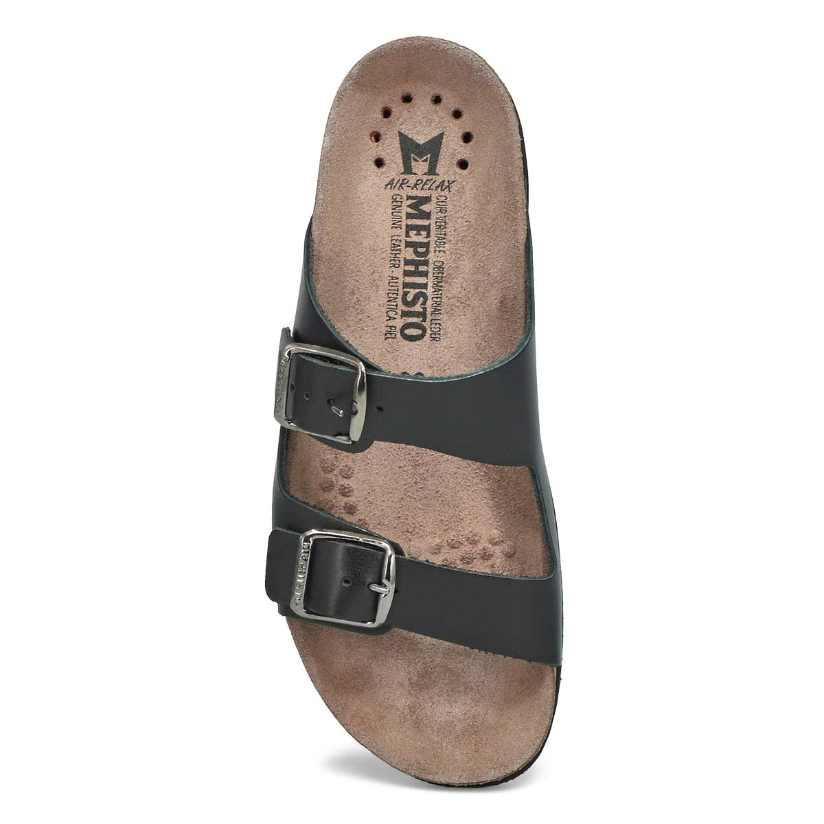 Lds Harmony black cork footbed slide