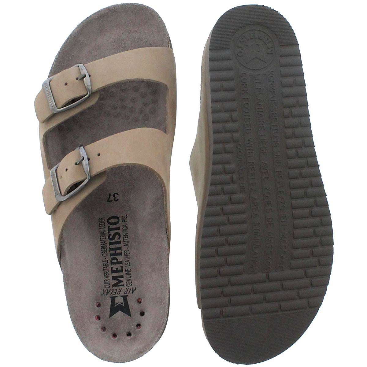 Lds Harmony beige cork footbed slide