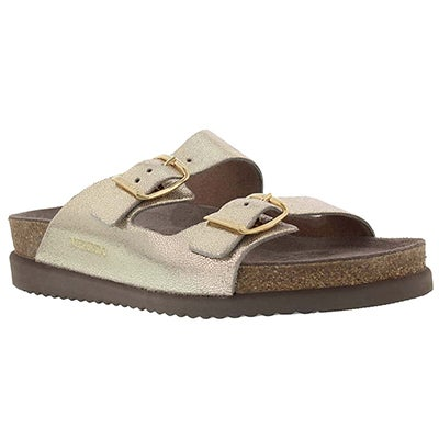 Mephisto Women's HARMONY platinum cork footbed sandals