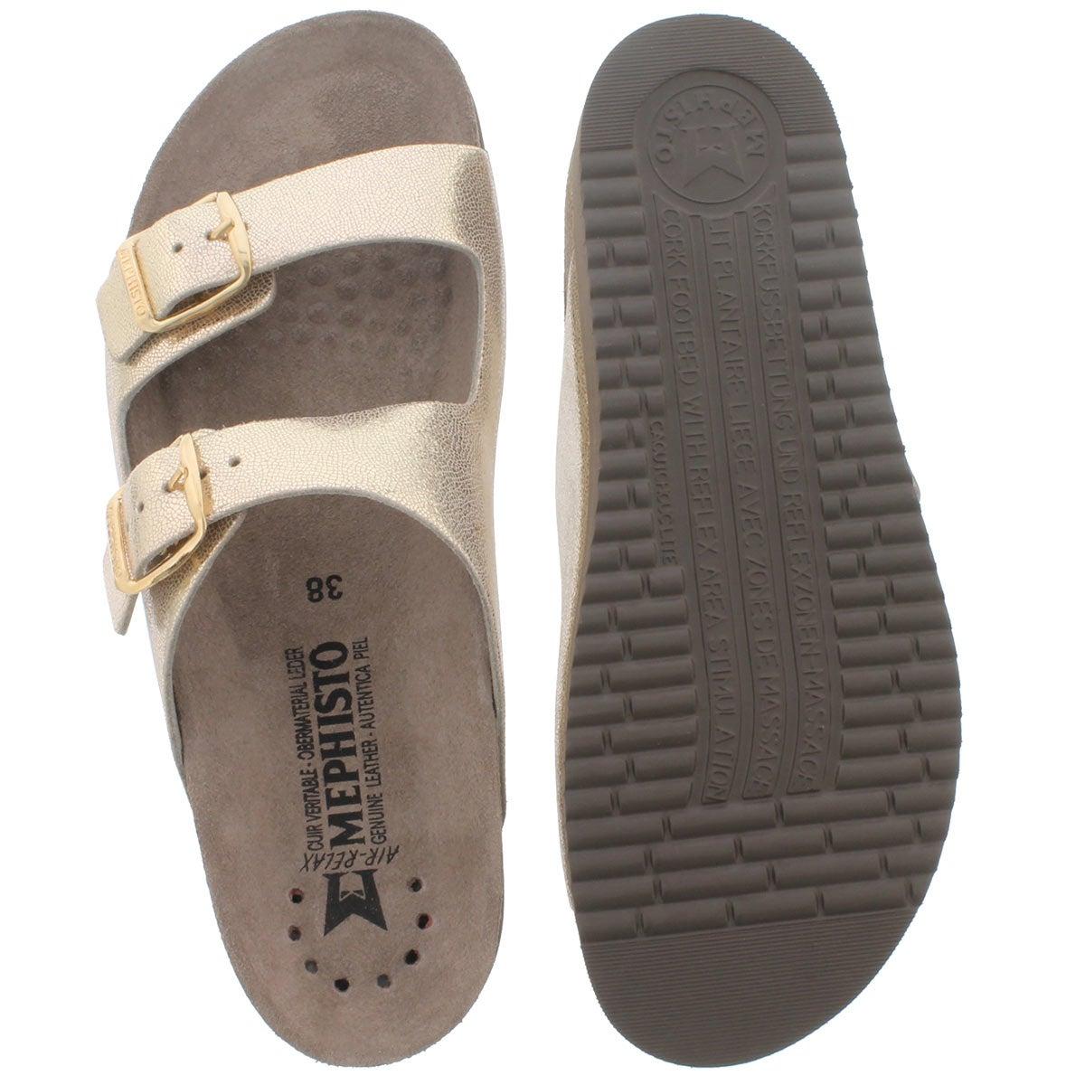 Lds Harmony platinum cork footbed slide