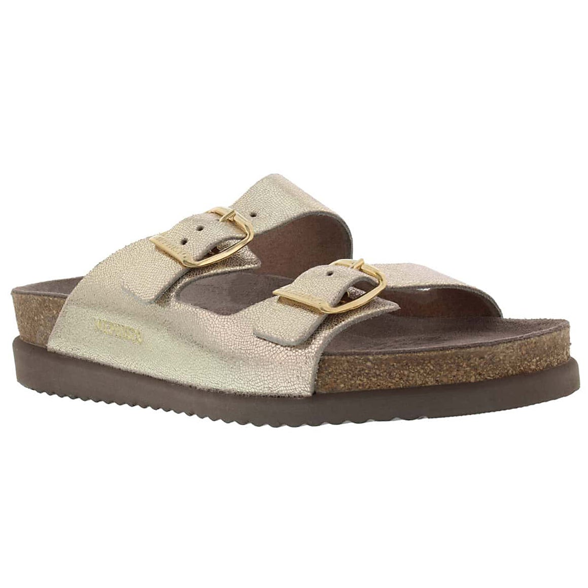 Women's HARMONY platinum cork footbed sandals