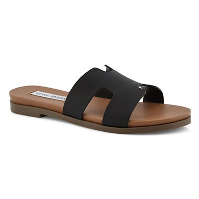 Lds Harvey black slide sandals