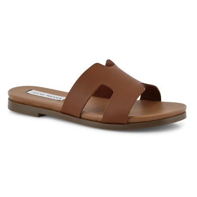 Lds Harvey cognac slide sandals