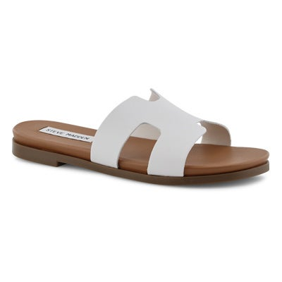Lds Harvey white slide sandals