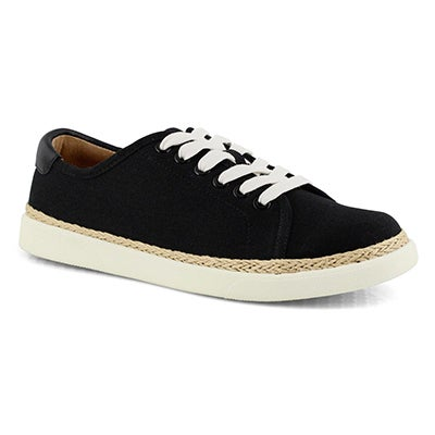 Lds Hattie black/black lace up sneaker