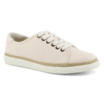 Lds Hattie ivory lace up sneaker