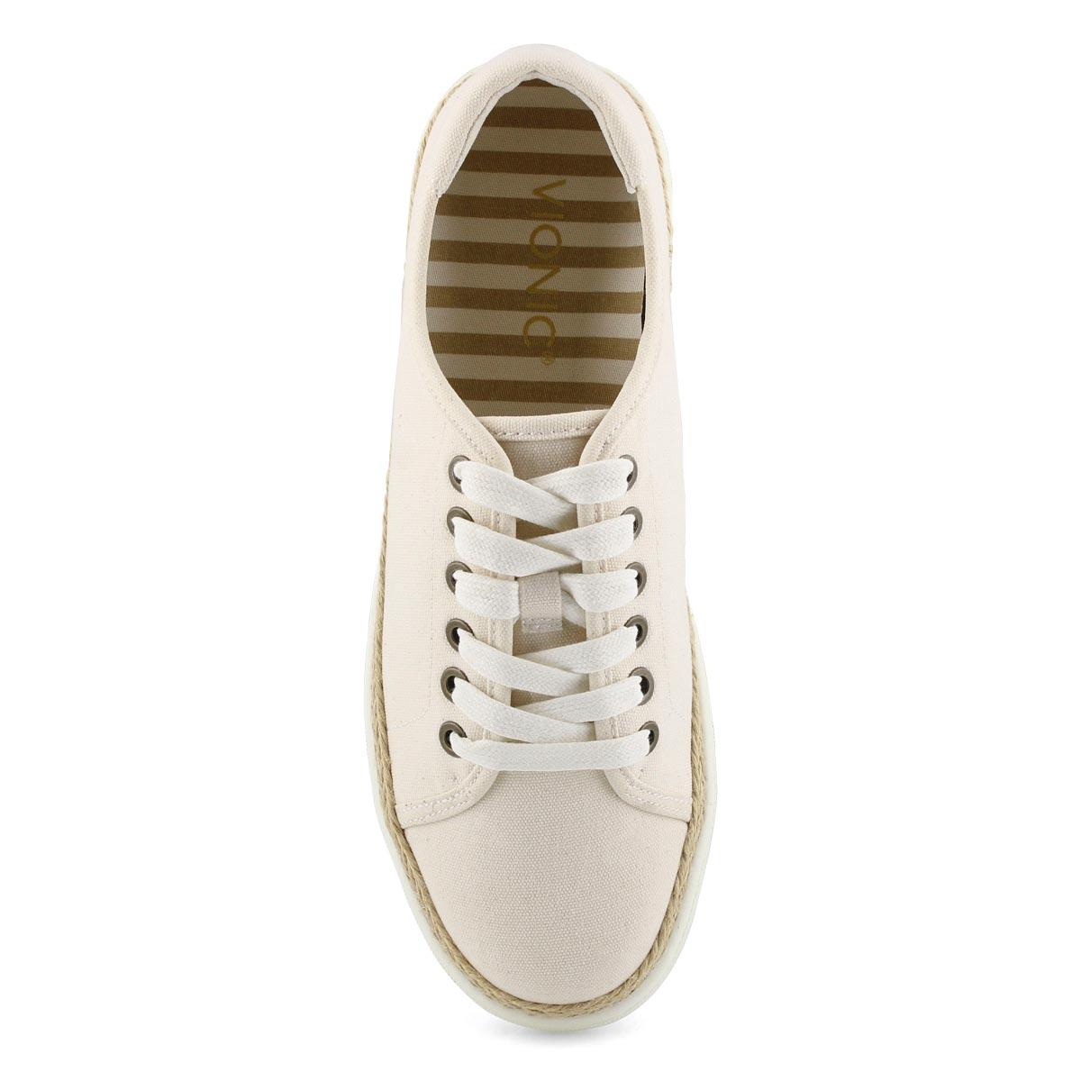 Lds Hattie ivory lace up sneaker