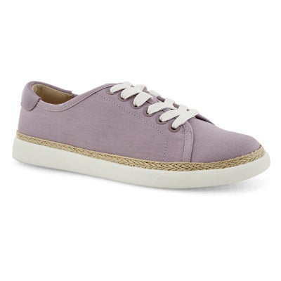 Lds Hattie mauve lace up sneaker