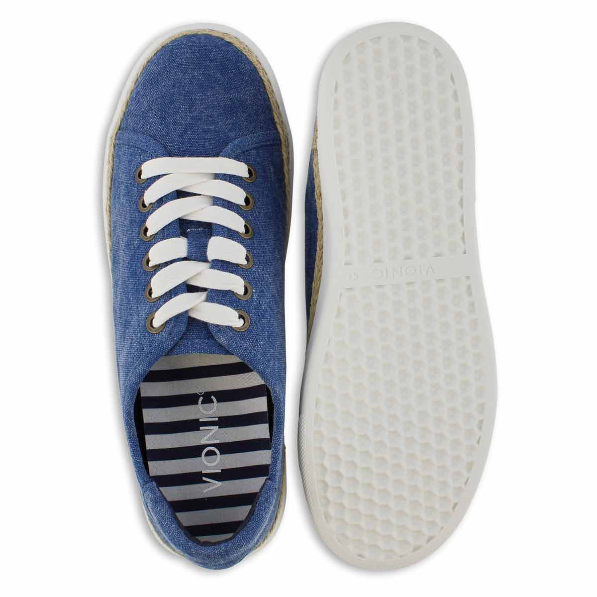 Lds Hattie navy lace up sneaker