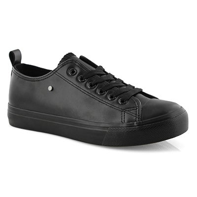 Lds Hazel black vegan lace up sneaker