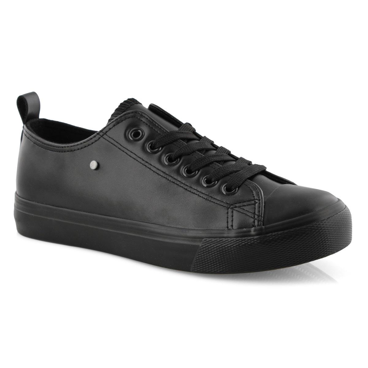 Lds Hazel black vegan lace up sneaker