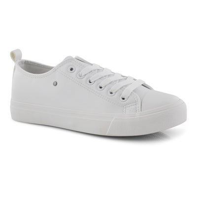 Lds Hazel white vegan lace up sneaker