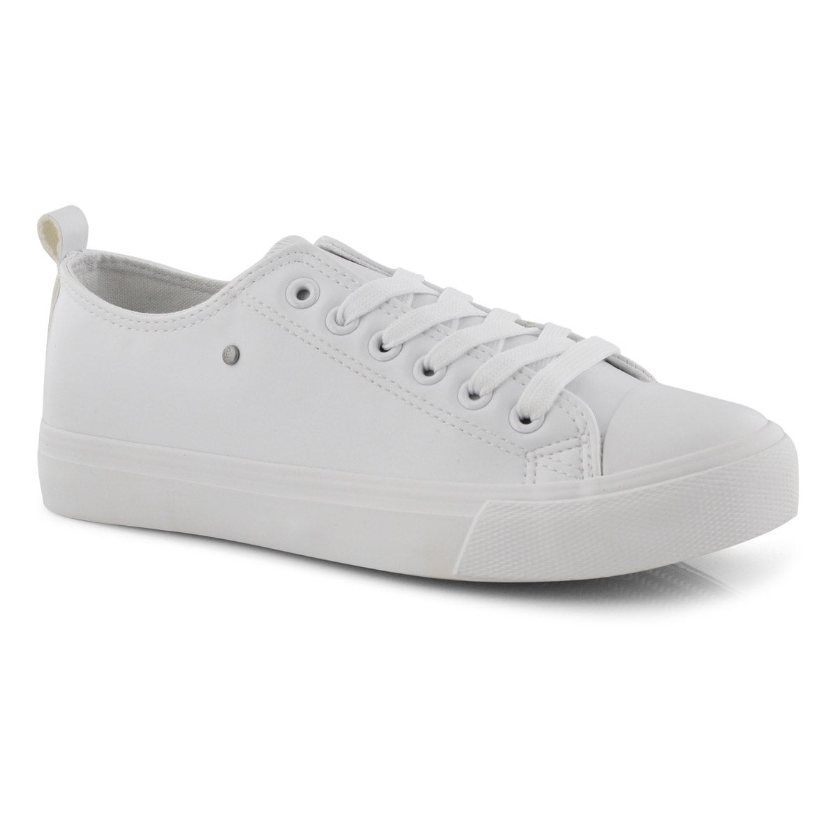 Lds Hazel white vegan lace up sneaker
