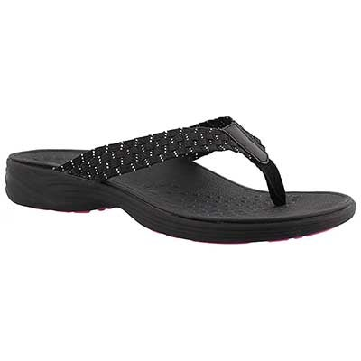 Lds Hazel blk arch support thong sandal