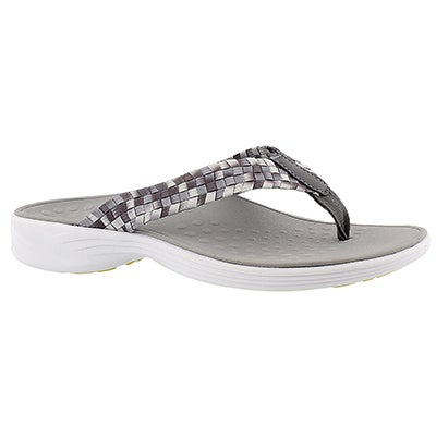 Vionic Women's HAZEL charcoal arch support thong sandals