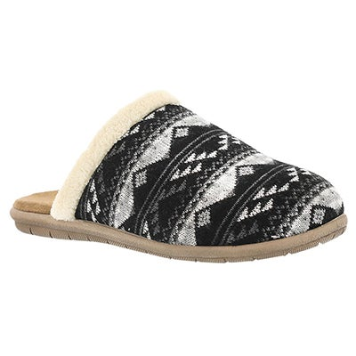 Foamtreads Women's HAZEL 2 black open back slippers
