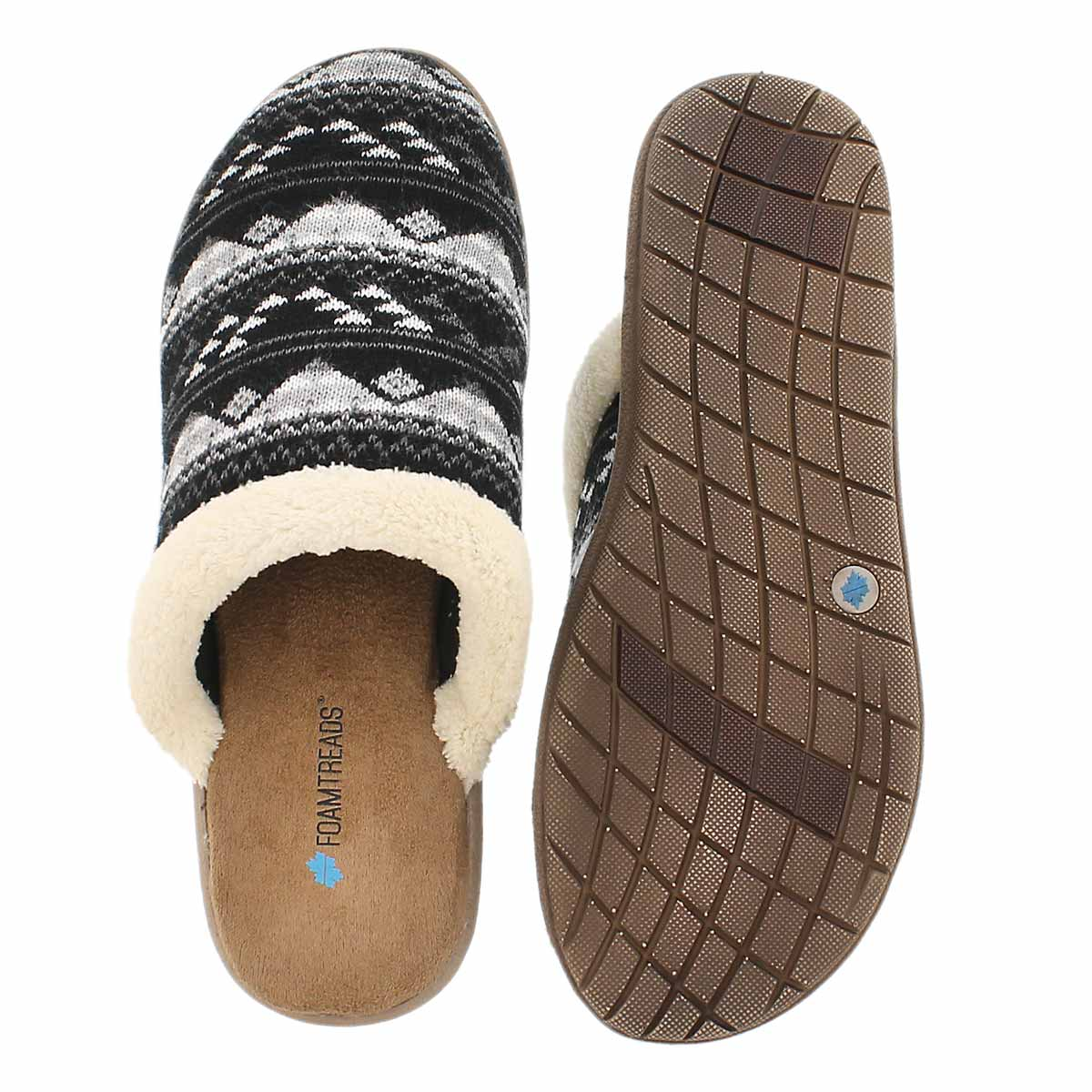 Lds Hazel black open back slipper