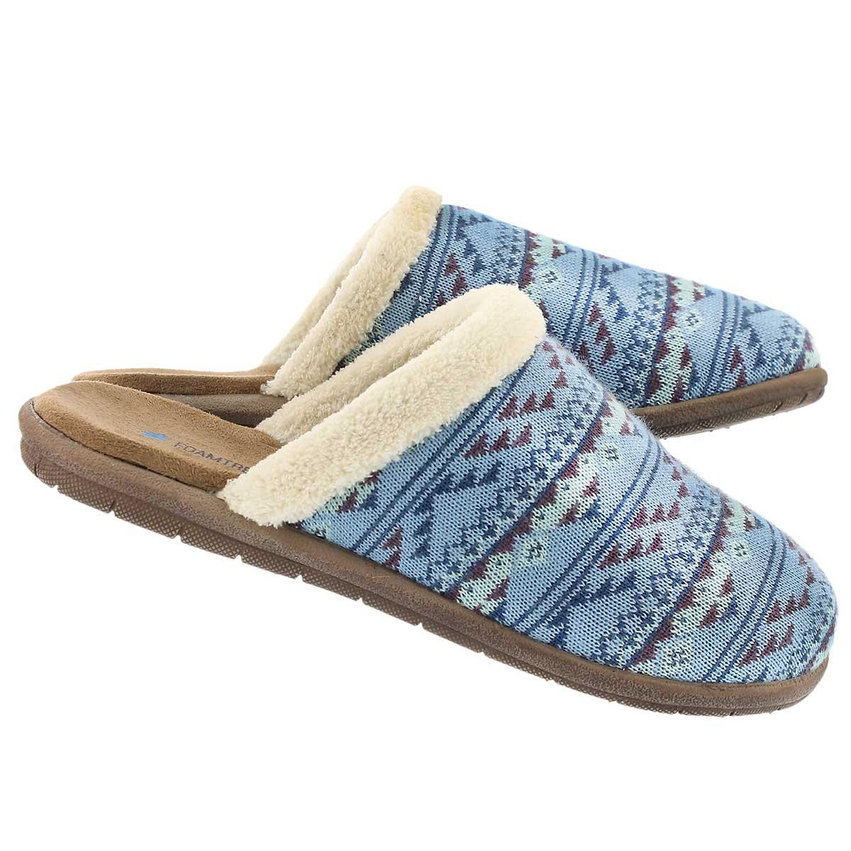 Pantoufles Hazel, bleu ciel, fem