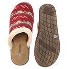 Lds Hazel red open back slipper