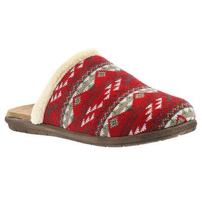 Foamtreads Women's HAZEL red open back slippers