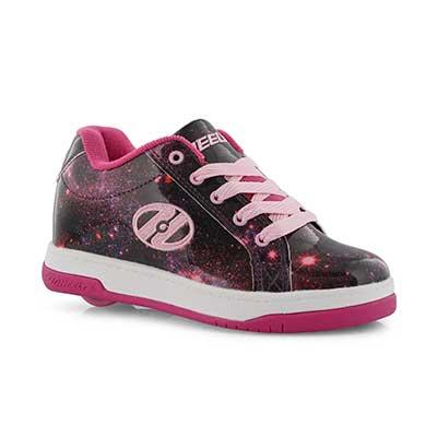 Grls Split berry lace up skate sneaker