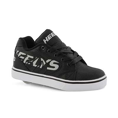 Bys Vopel blk/gry lace up skate sneaker