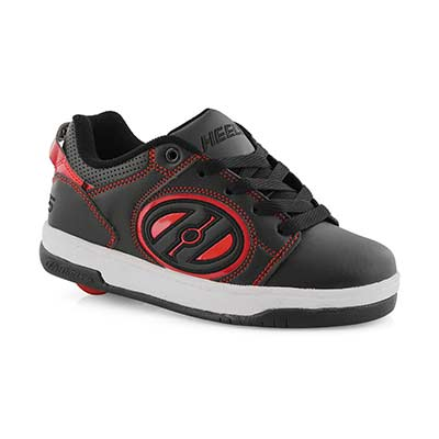 Bys Voyager blk/rd lace up skate sneaker