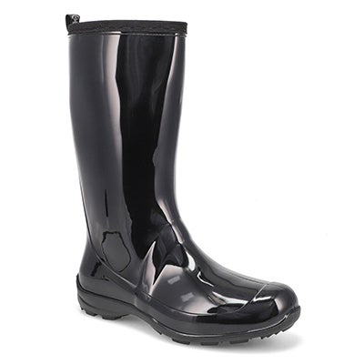 Kamik Women's HEIDI black mid waterproof rain boots