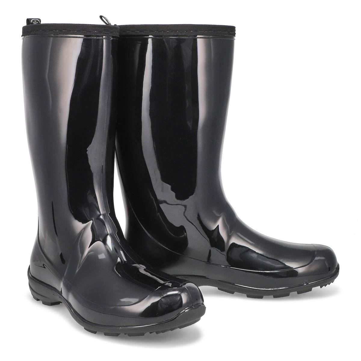 Lds Heidi black mid wtpf rain boot
