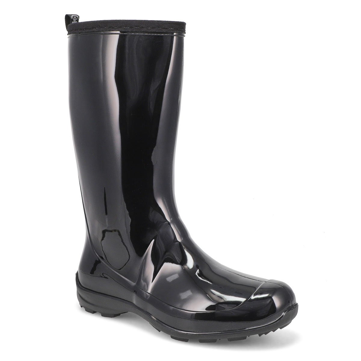 Women's HEIDI black mid waterproof rain boots