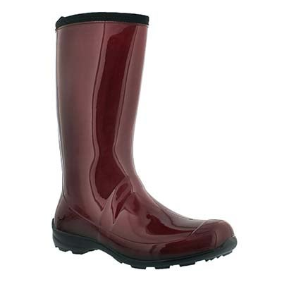 Kamik Women's HEIDI red mid waterproof rain boots