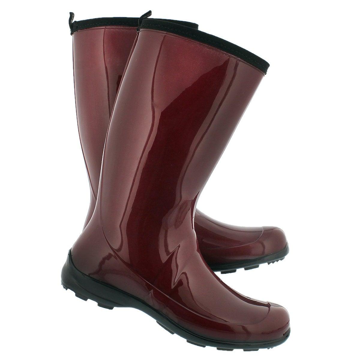 Women's HEIDI red mid waterproof rain boots