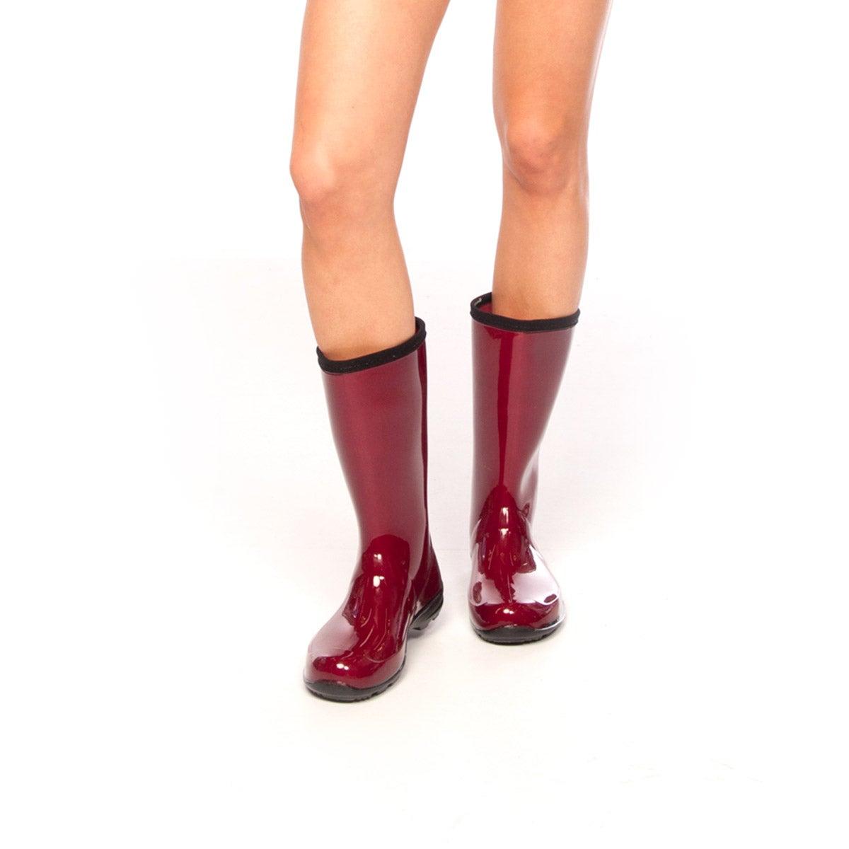 Lds Heidi red mid wtpf rain boot