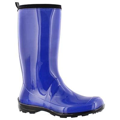 Kamik Women's HEIDI blue mid waterproof rain boots