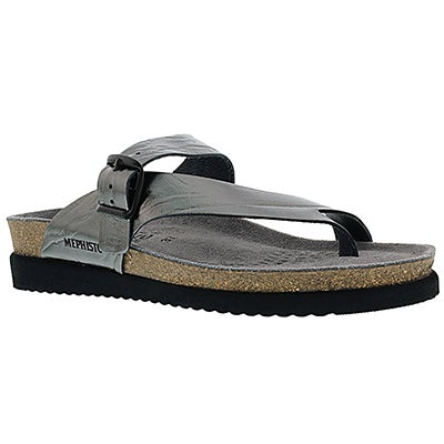 Mephisto Women's HELEN grey etna cork thong sandals