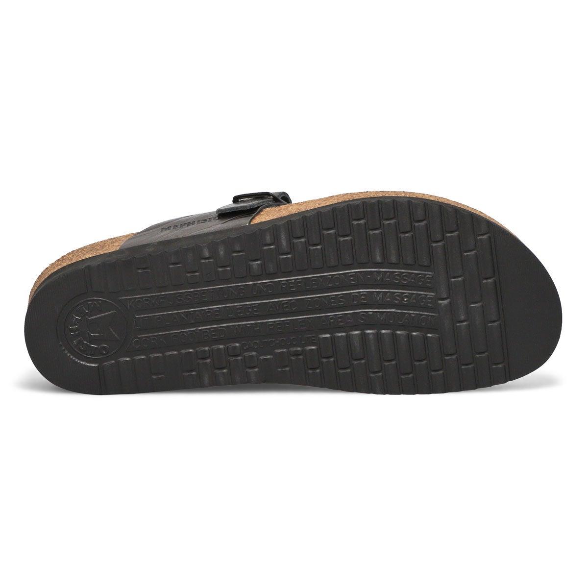 Lds Helen grey cork footbed thong