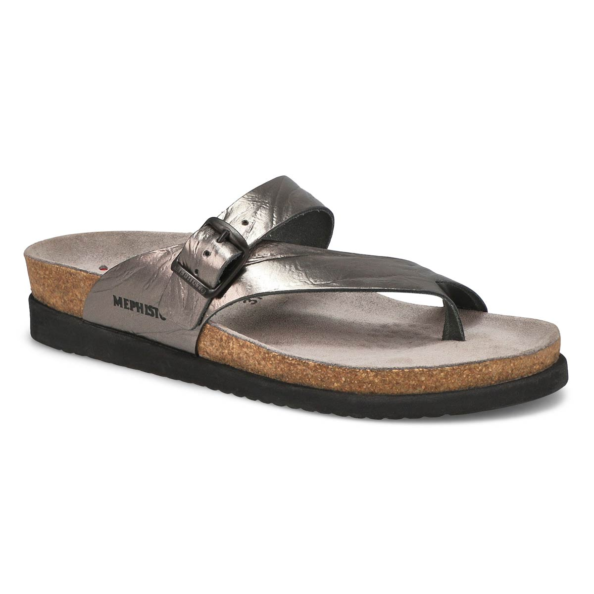 Lds Helen grey cork footbed thong
