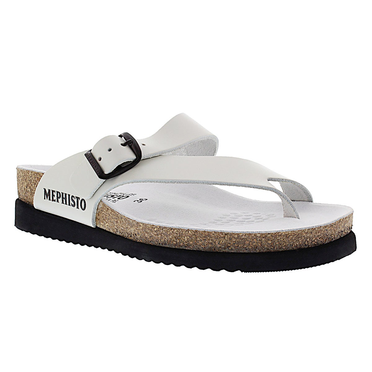 Lds Helen white cork footbed thong