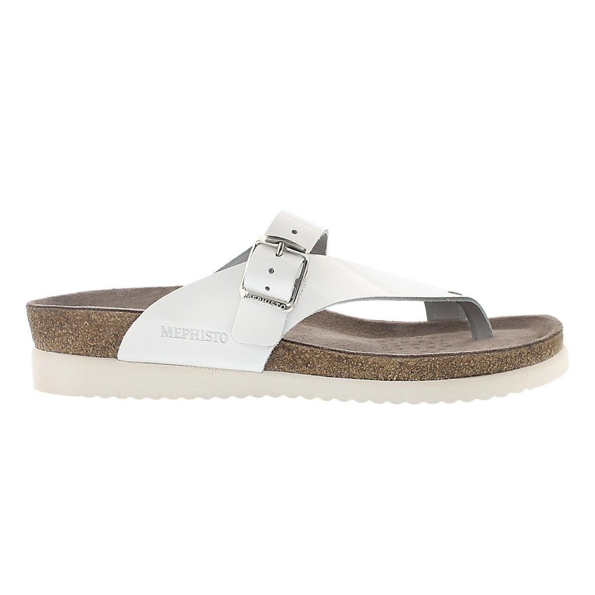 Sandales tongs Helen, blanc verni, fem