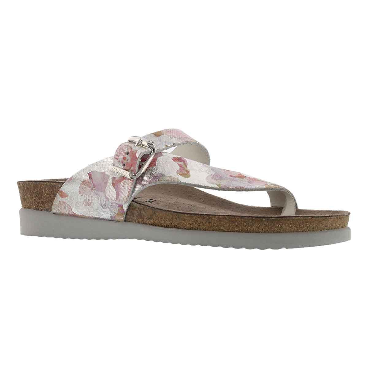 Lds Helen pink cork footbed thong