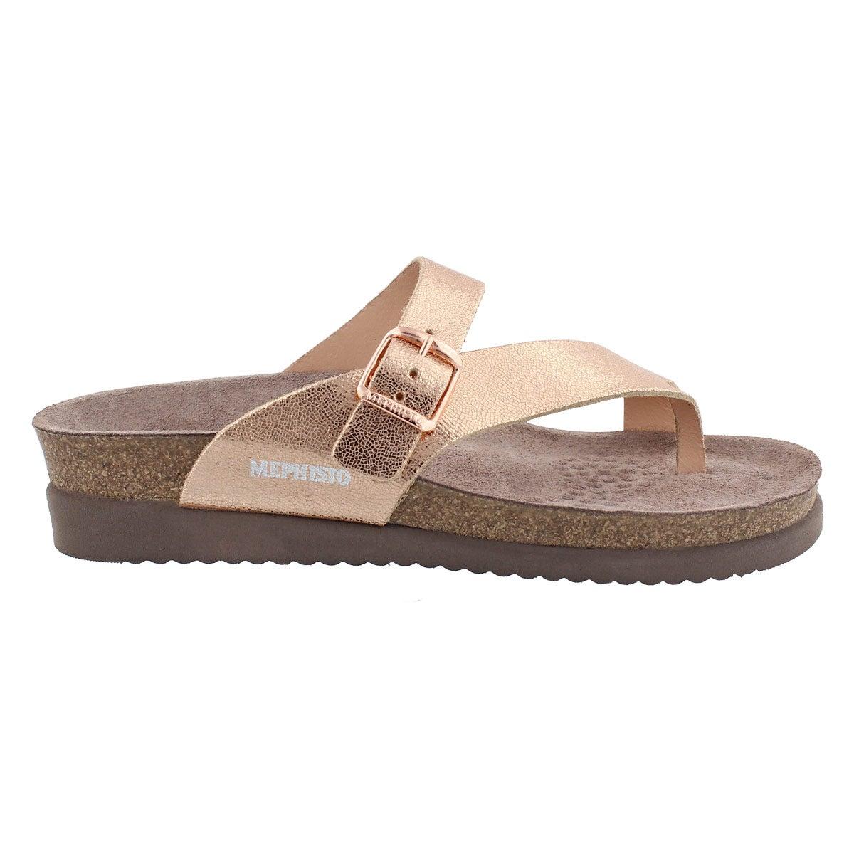 Lds Helen gold cork footbed thong