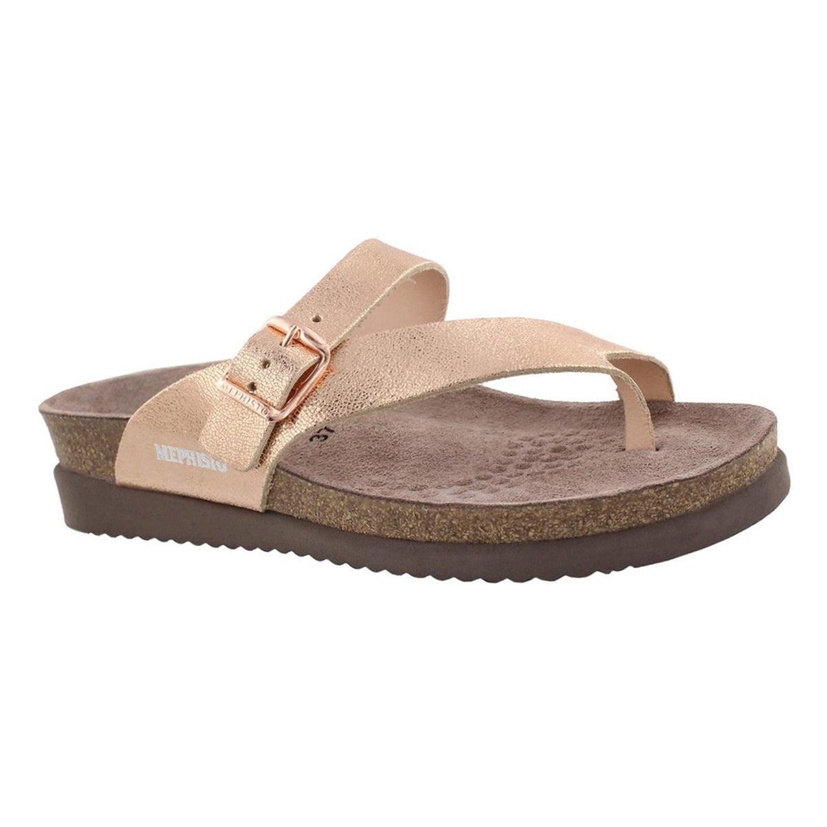 Women's HELEN gold cork footbed thongs