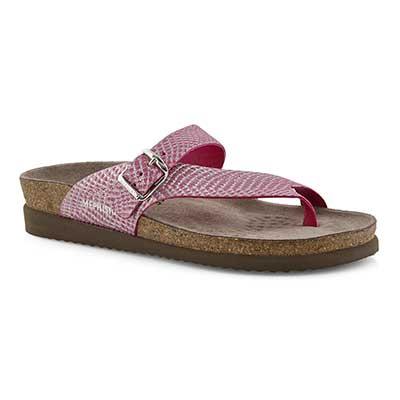 Lds Helen pnk cuba footbed toe loop