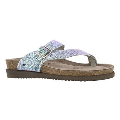 Mephisto Women's HELEN salsa nickel cork footbed thongs