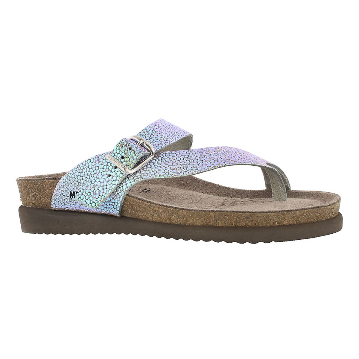 Women's HELEN salsa nickel cork footbed thongs