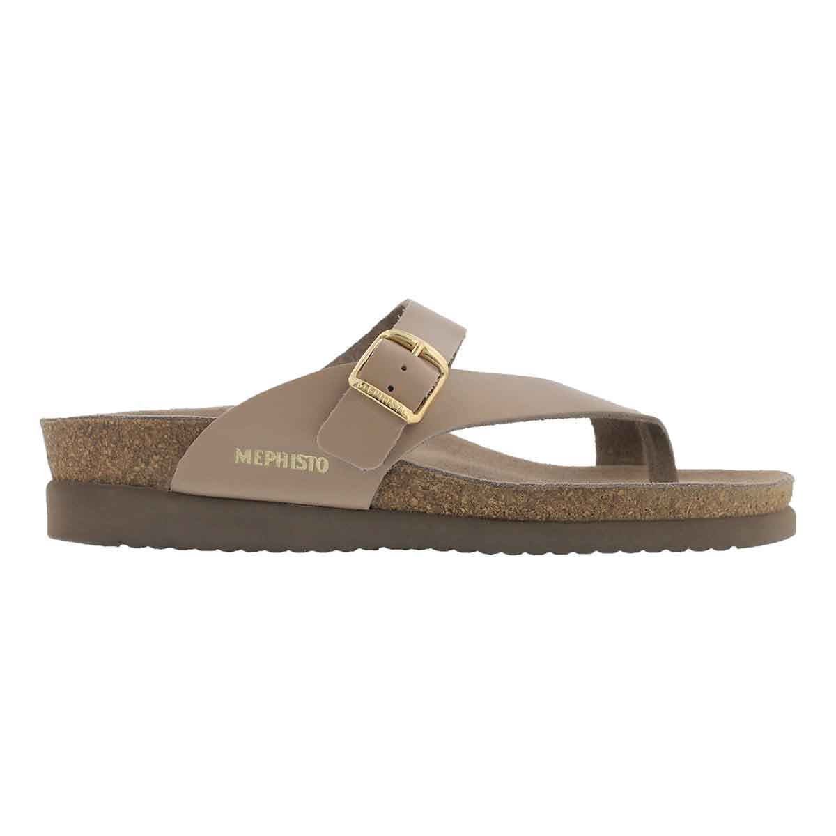 Lds Helen beige cork footbed thong