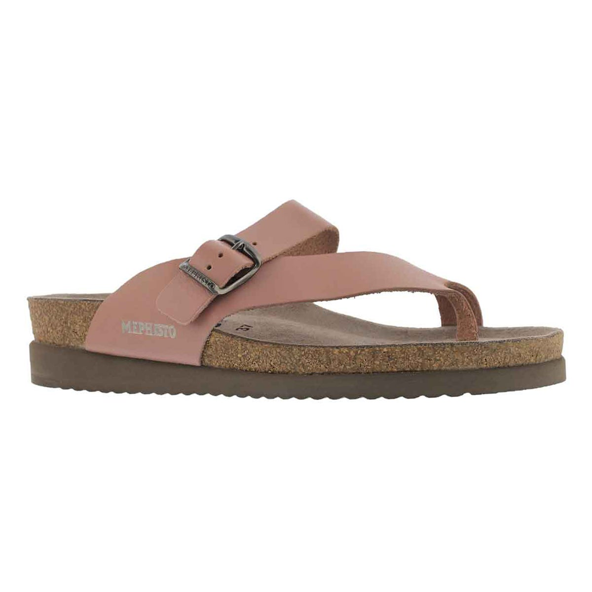 Lds Helen old pink cork footbed thong