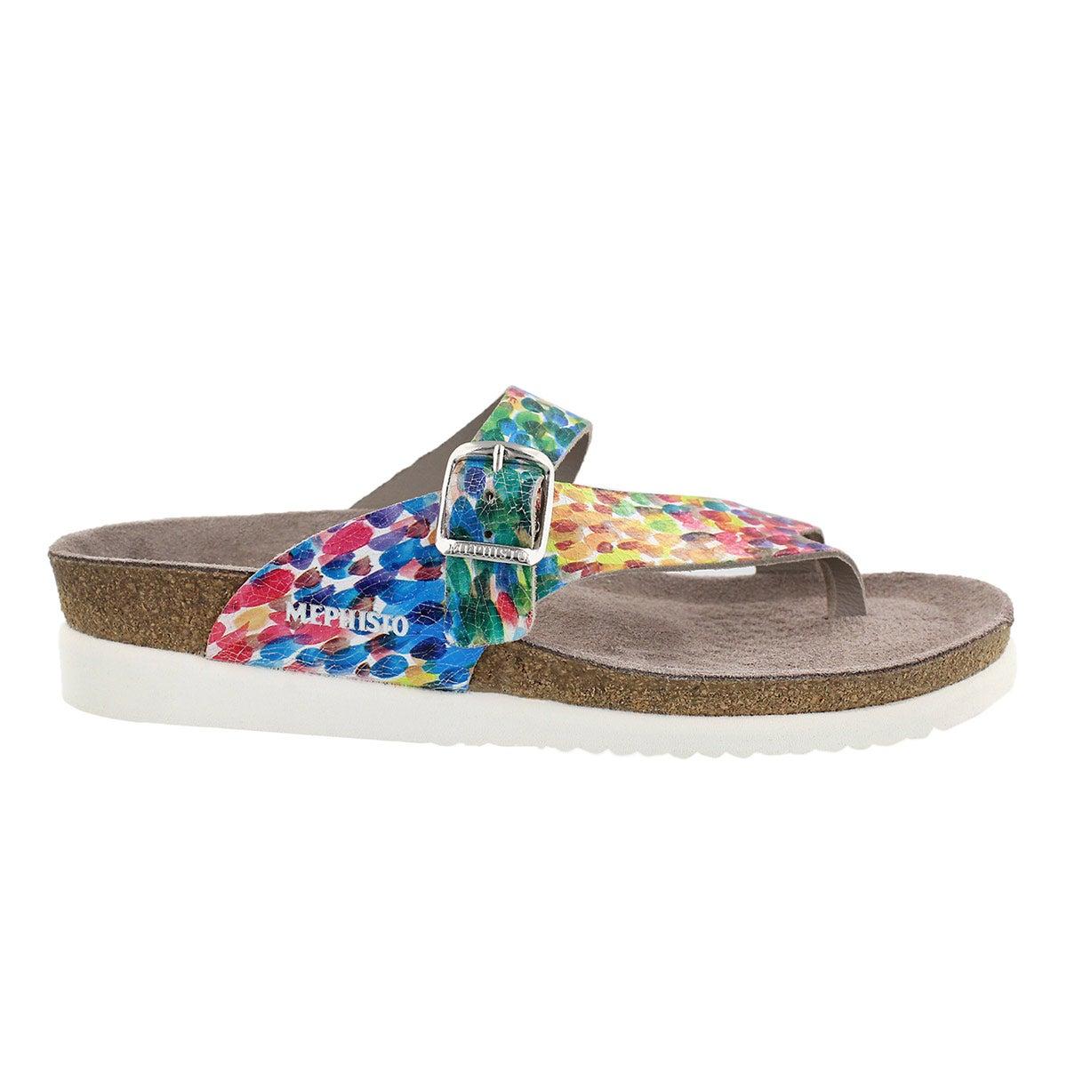 Lds Helen multi cork footbed thong