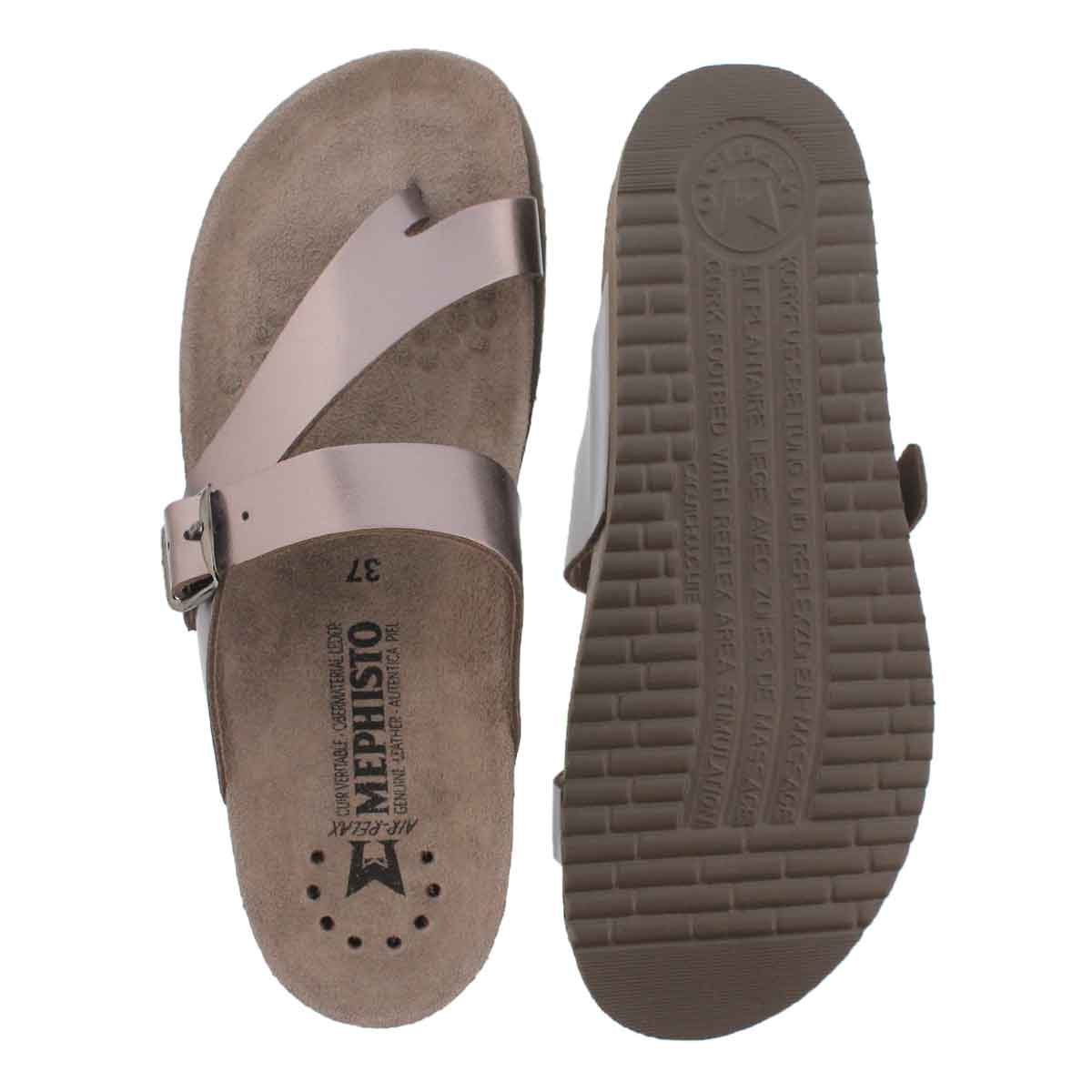 Lds Helen pwtr star cork footbed thong