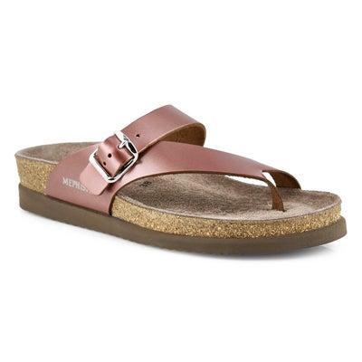 Lds Helen plm star cork footbed toe loop